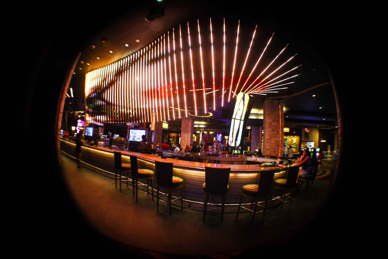 ORO Nightclub bar counter at the Hard Rock Hotel and Casino in Punta Cana