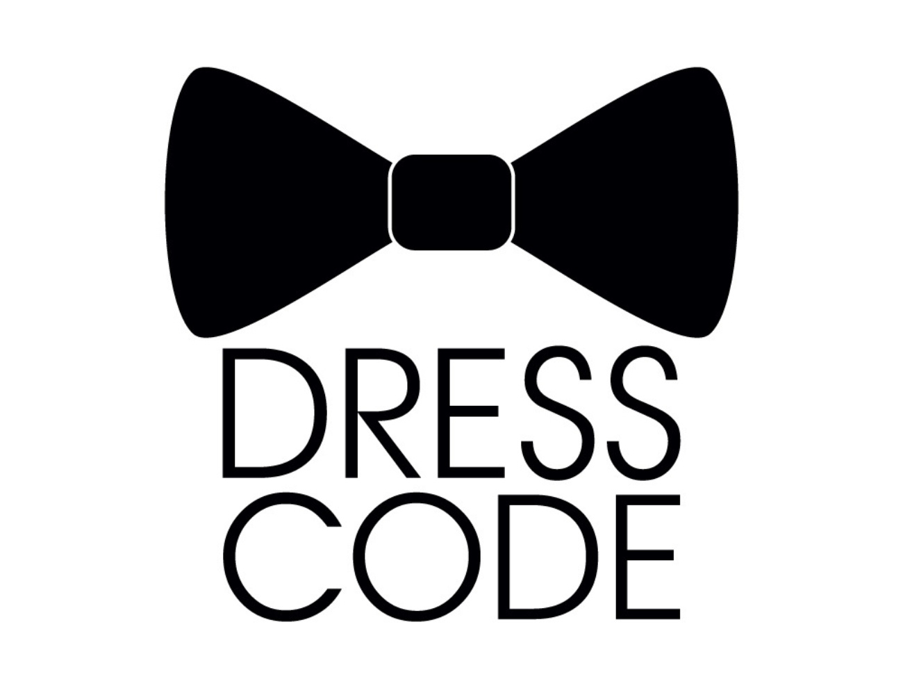 'Dress Code' written under a black bowtie.