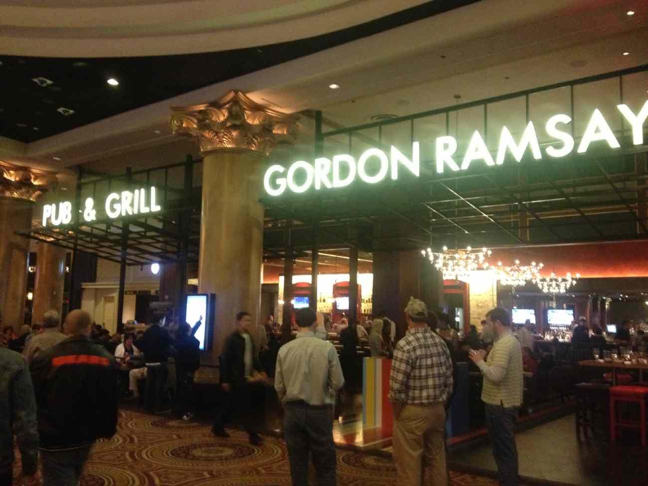 Gordon Ramsay Pub and Grill in Caesars Palace Las Vegas Hotel & Casino.