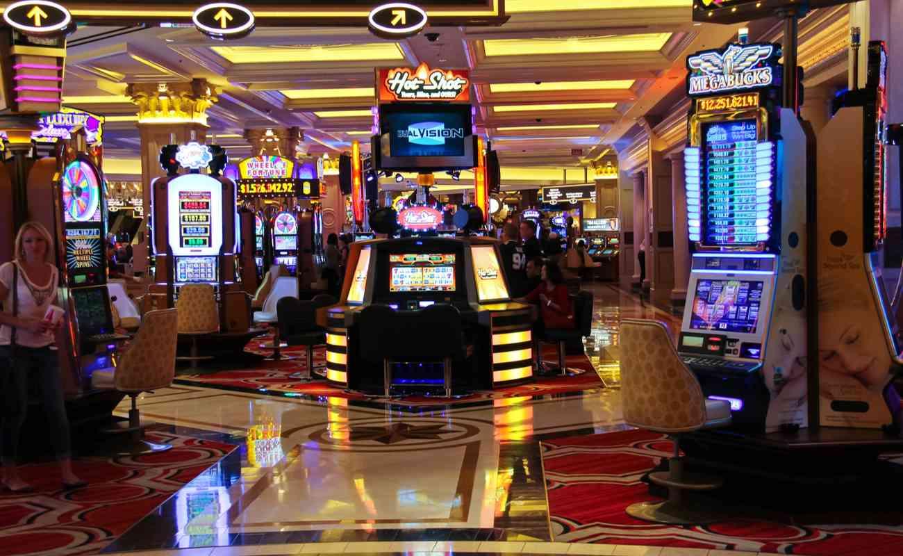 Inside the Palazzo Hotel Casino in Las Vegas, Nevada.