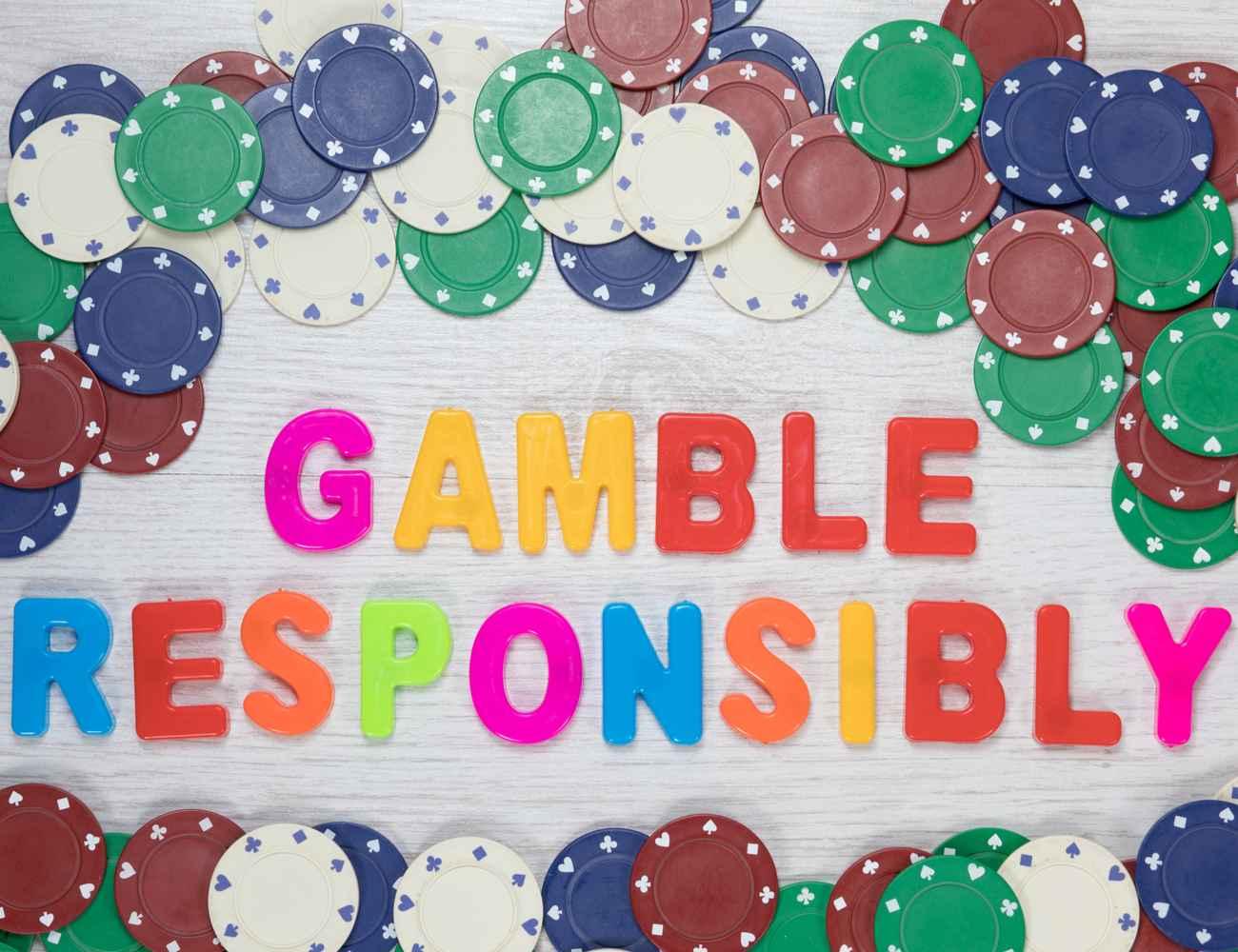 Gamble responsibly written in fridge magnet lettering