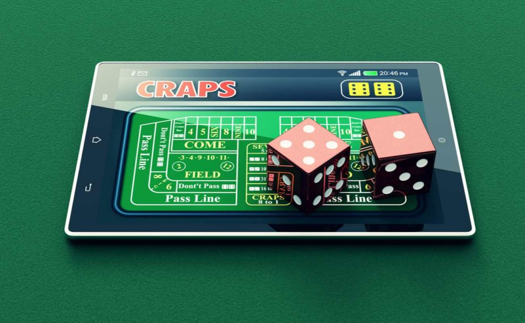 craps game online on tablet with virtual dices