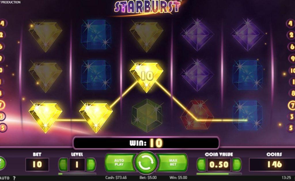 Starburst online slot casino game bonus