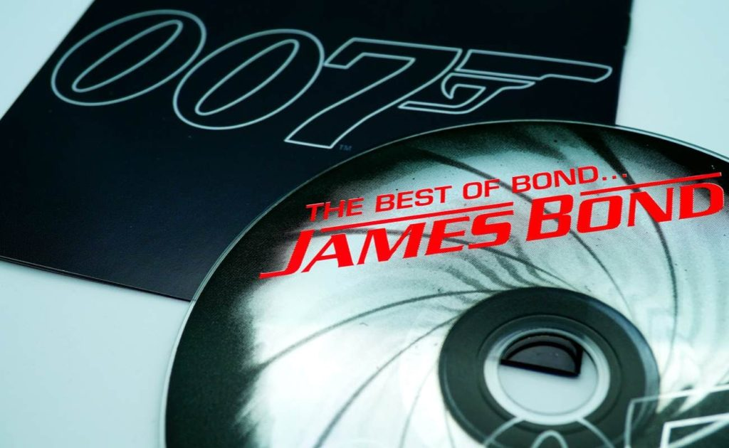 CD and artwork of soundtrack called The Best Of James Bond