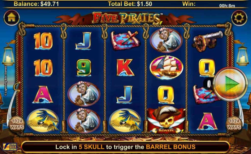 Five Pirates online slot casino game icons