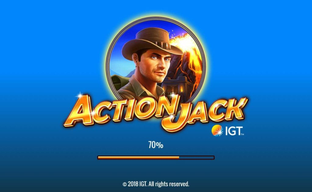 Ation Jack online slot casino game loading screen