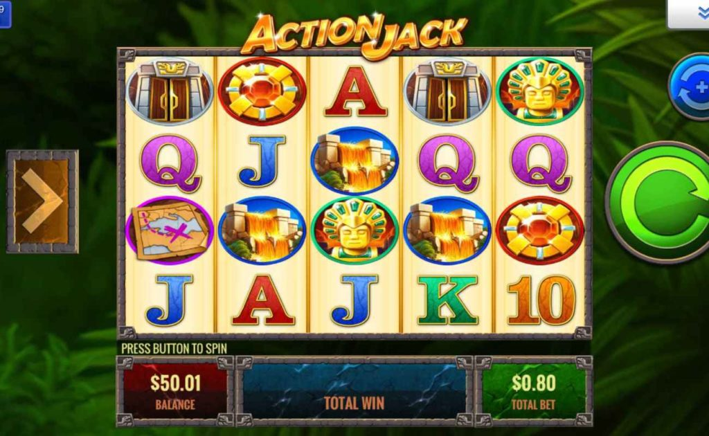 Action Jack online slot casino game icons