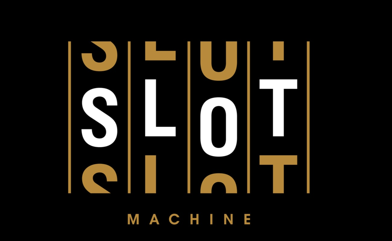 Slot machine style modern font, alphabet letters and numbers vector illustration