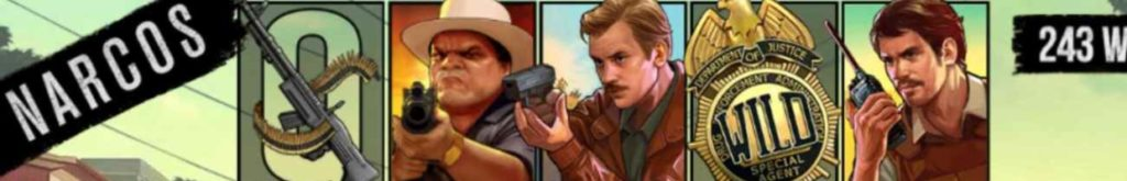 Narcos online slot casino game icons