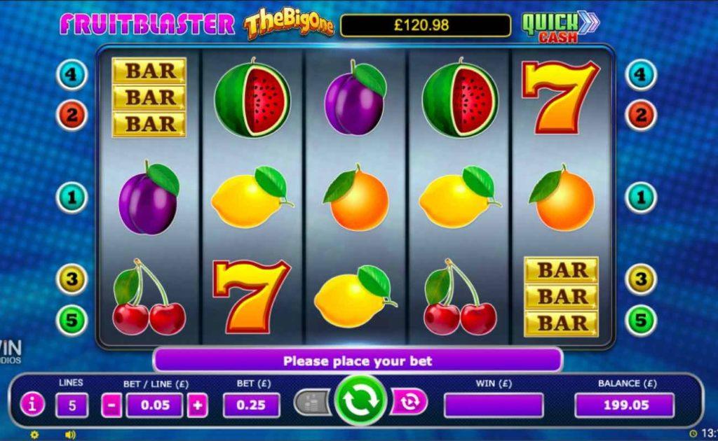 Online slot casino game Fruitblaster