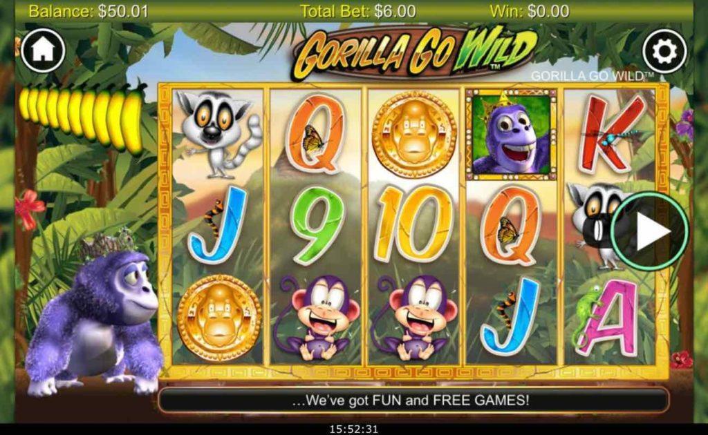 Online slot casino game Gorilla Go Wild