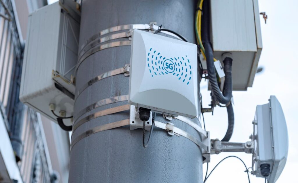 5G cellular repeaters on the pole