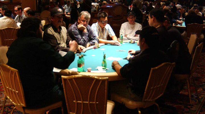 The World Poker Tour's Doyle Brunson North American Poker Championship at the Bellagio Hotel in Las Vegas 2004. Photo by Steve Grayson/Getty Images.