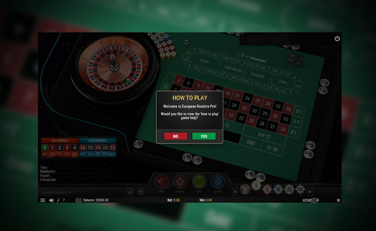 European Roulette Pro launches with a tutorial if you need help understanding the features of this game.