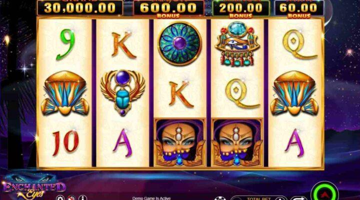 Enchanted Eyes Big Hit Bonanza online slot casino game.