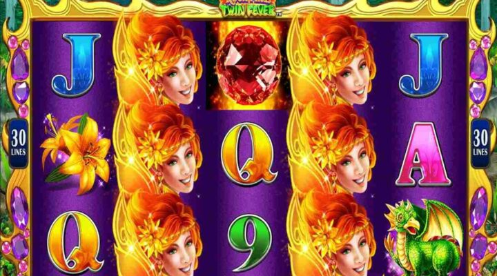 Volcanic Rock Fire Twin Fever online slot casino game.