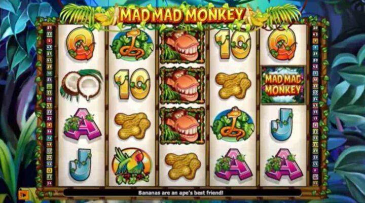 Mad Mad Monkey online slot logo.