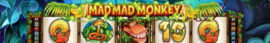 Mad Mad Monkey online slot logo.