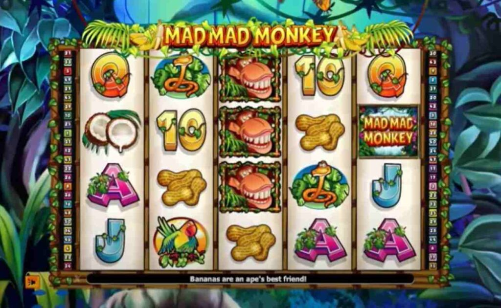 Mad Mad Monkey online slot casino game by NextGen Gaming.