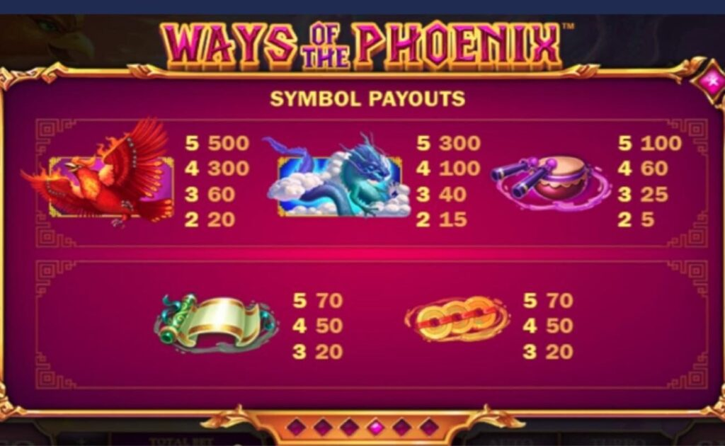 Ways of the Phoenix online casino slot by Playtech.