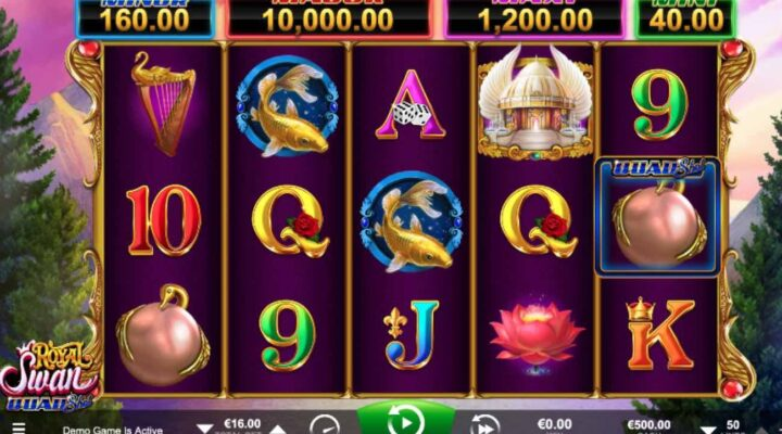 Royal Swan online casino slot game by Ainsworth.