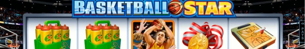 Basketball Star online slot header by Microgaming.