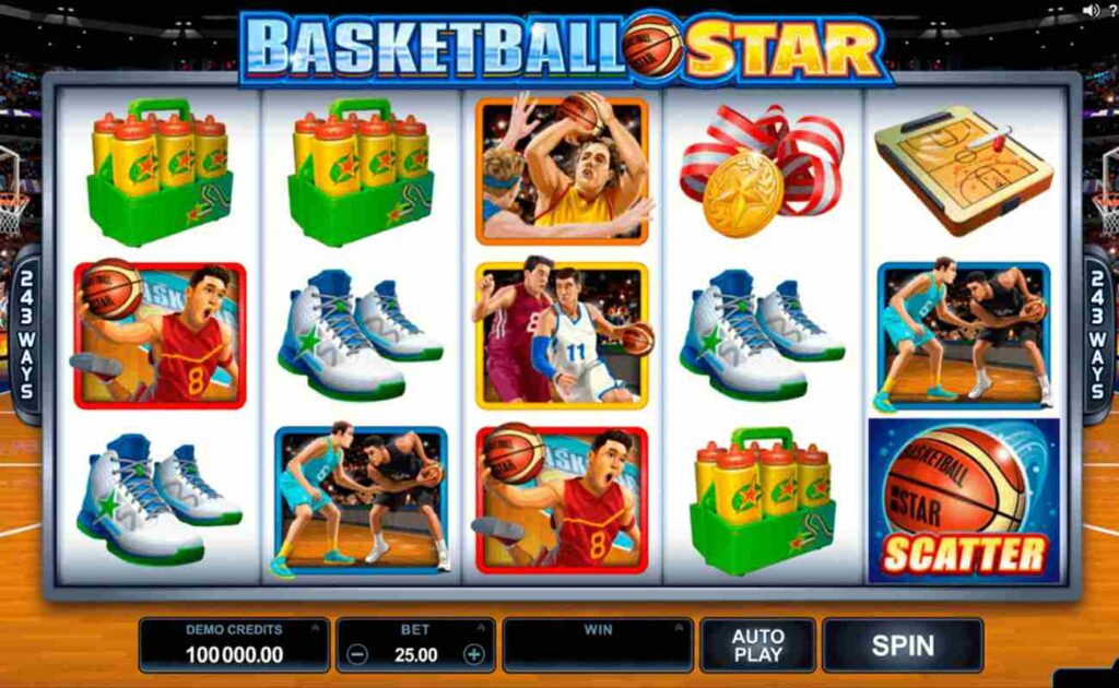 Basketball Star online slot game by Microgaming.