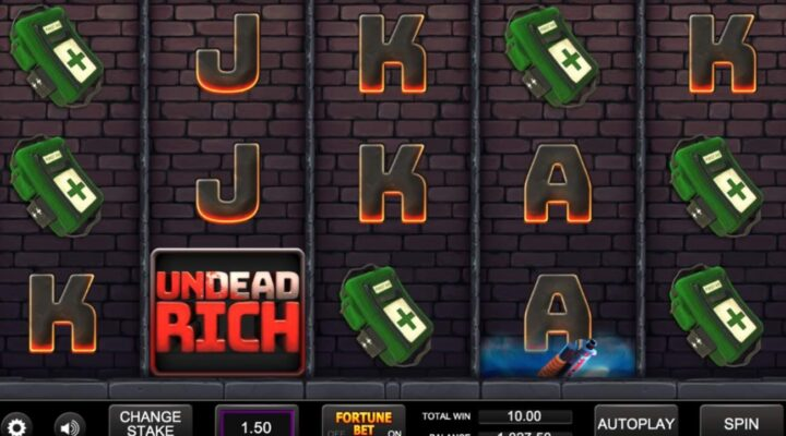 Undead Rich online slot casino game.
