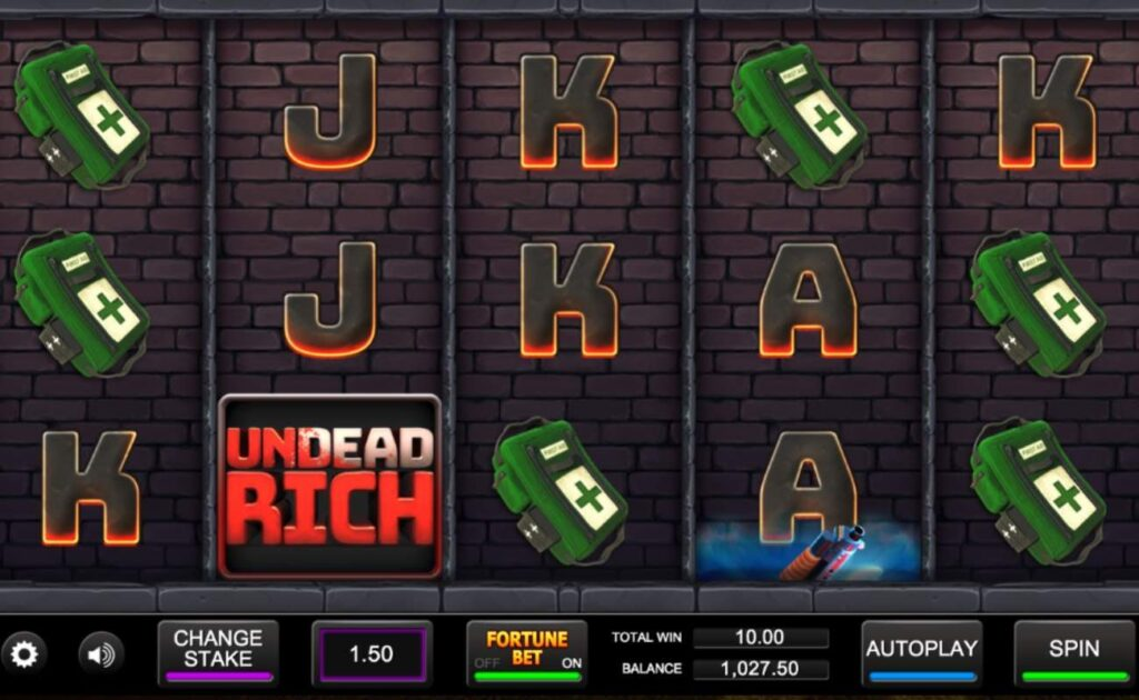 Undead Rich online slot casino game by Inspired Gaming.
