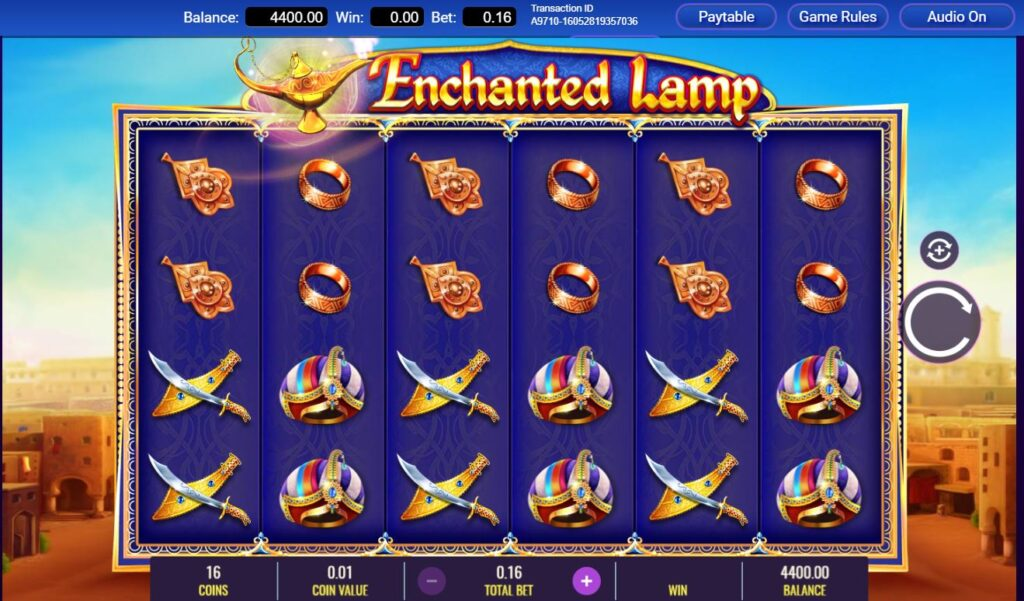 Enchanted Lamp online slots casino game by IGT.