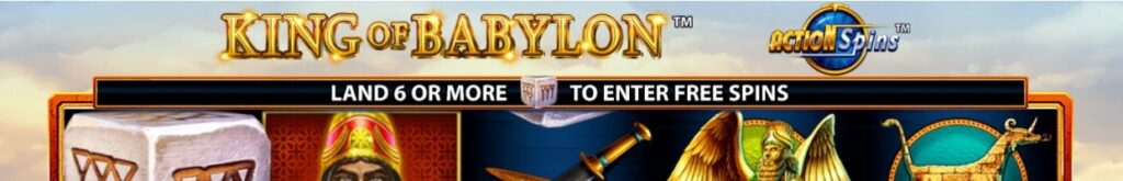 The title 'King of Babylon' taken from a demo screenshot of the game.