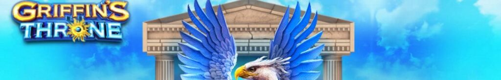 The griffin from Griffin's Throne spreads its wings against the Greek temple background, with the game title on the left.
