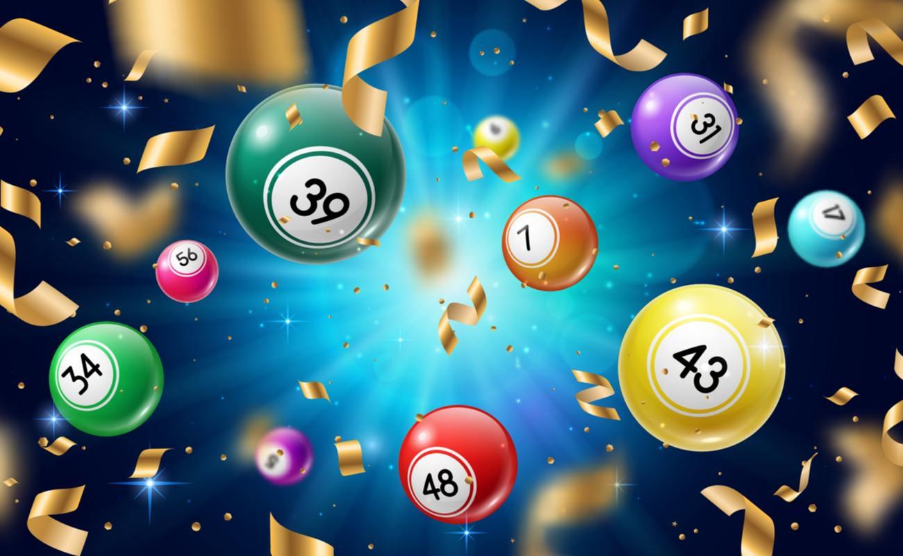 Bingo balls and confetti