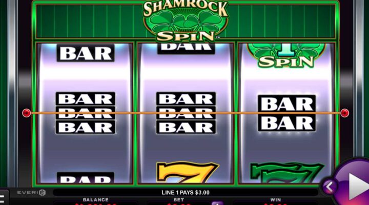 Shamrock Spin online slot casino game by Everi