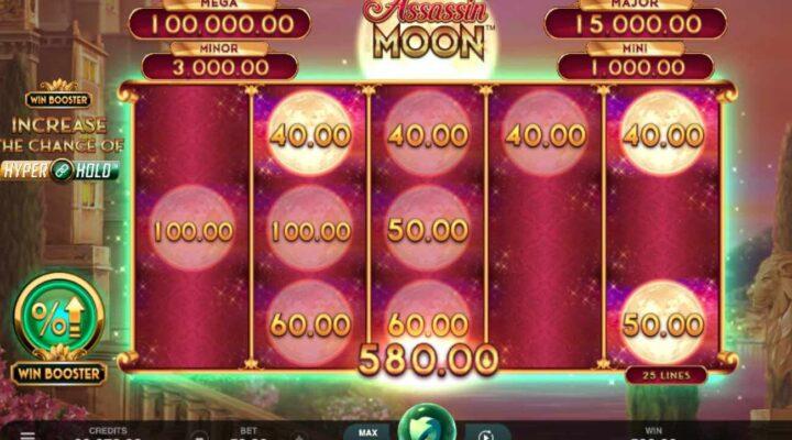 Assassin Moon online casino slot game.