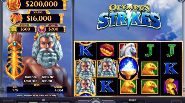 Olympus Strikes online slot casino game.