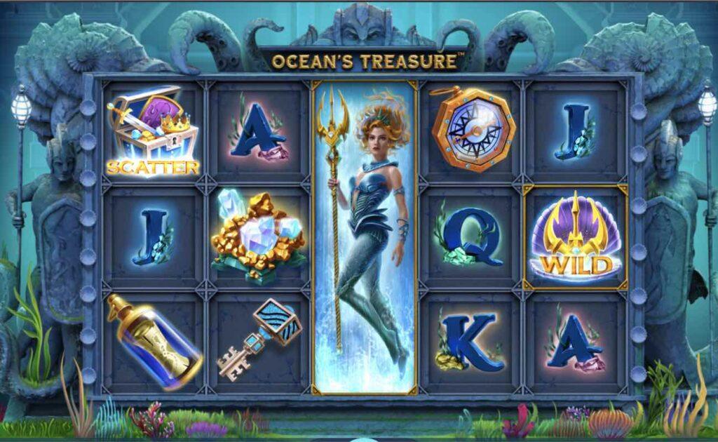 Ocean's Treasure online casino slot game.