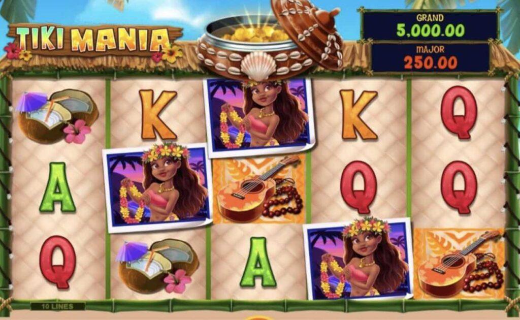 Tiki Mania online casino slot game