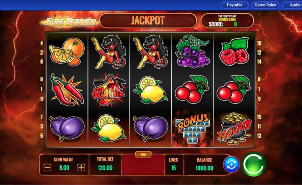 Fire Burner online slot game by IGT.