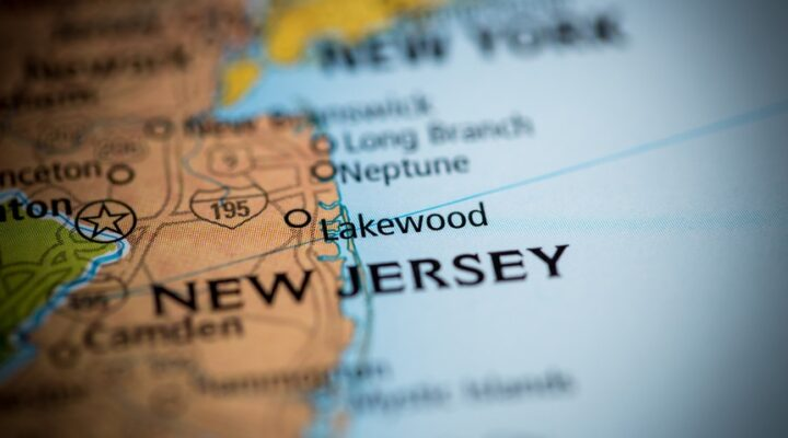 A map view of New Jersey.