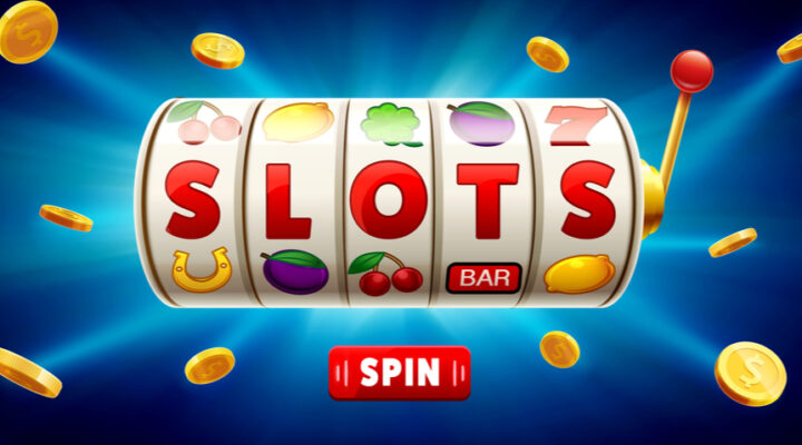 slot reel that displays the word SLOT against a blue background - Scifi themed slots