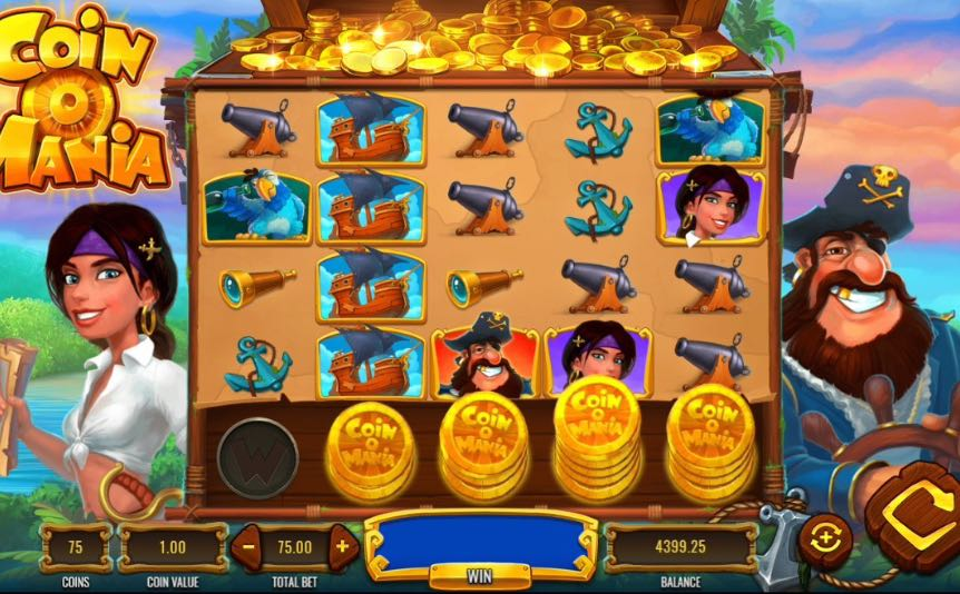 Coin O Mania online slot by IGT – game window.