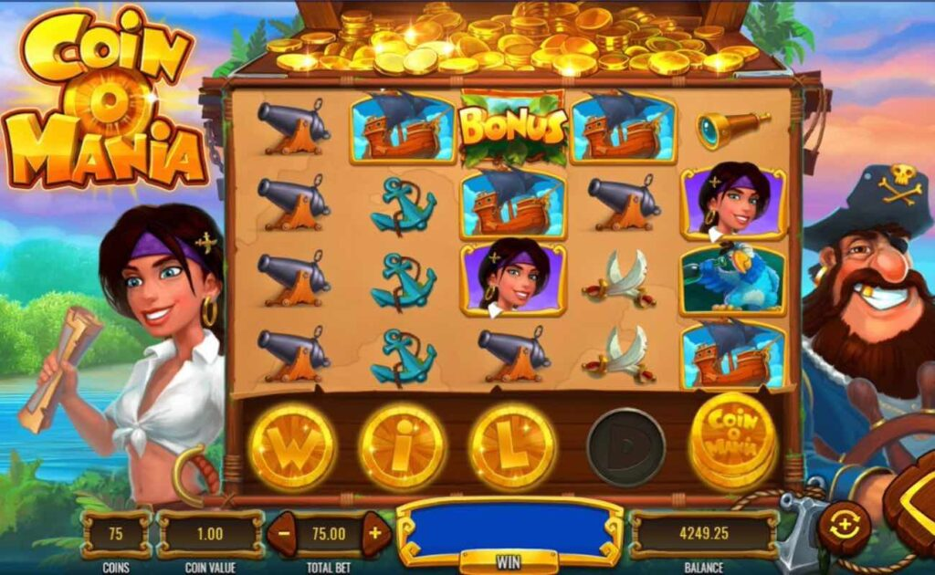 Coin O Mania online slot by IGT – game window showing the 5x4-reel format.