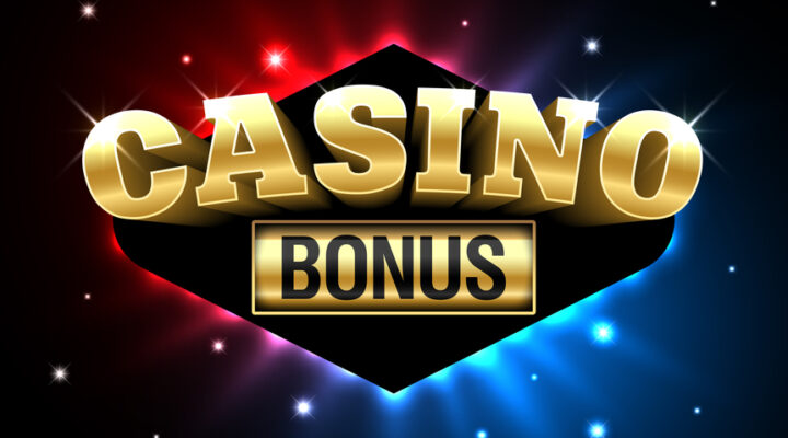 The word 'bonus' on a gold plate against an illuminated red and blue background.