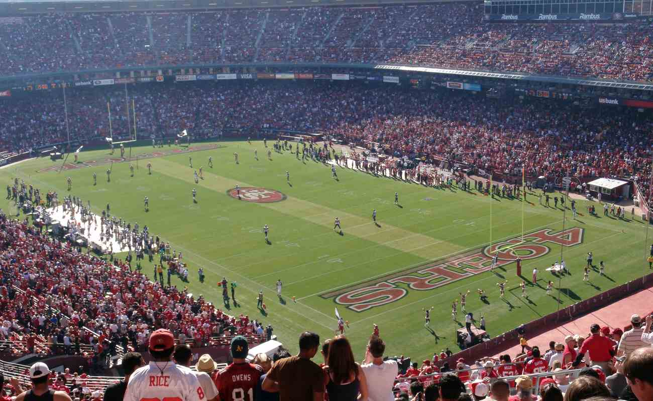 San Francisco 49ers during a game in a packed out stadium