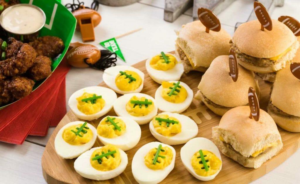 Super Bowl themed finger foods