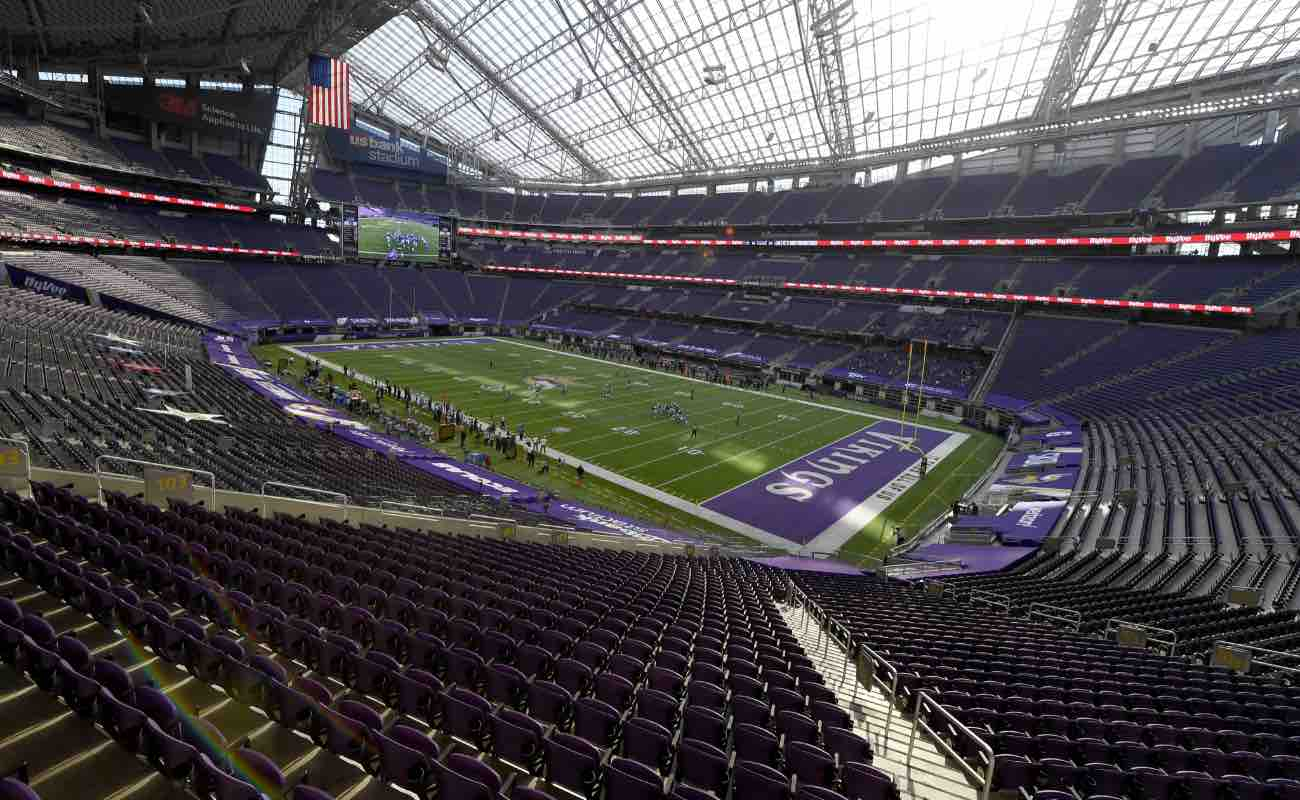 General view during the Minnesota Vikings game against the Detroit Lions at U.S. Bank Stadium in Minneapolis, Minnesota. Photo by Hannah Foslien/Getty Images