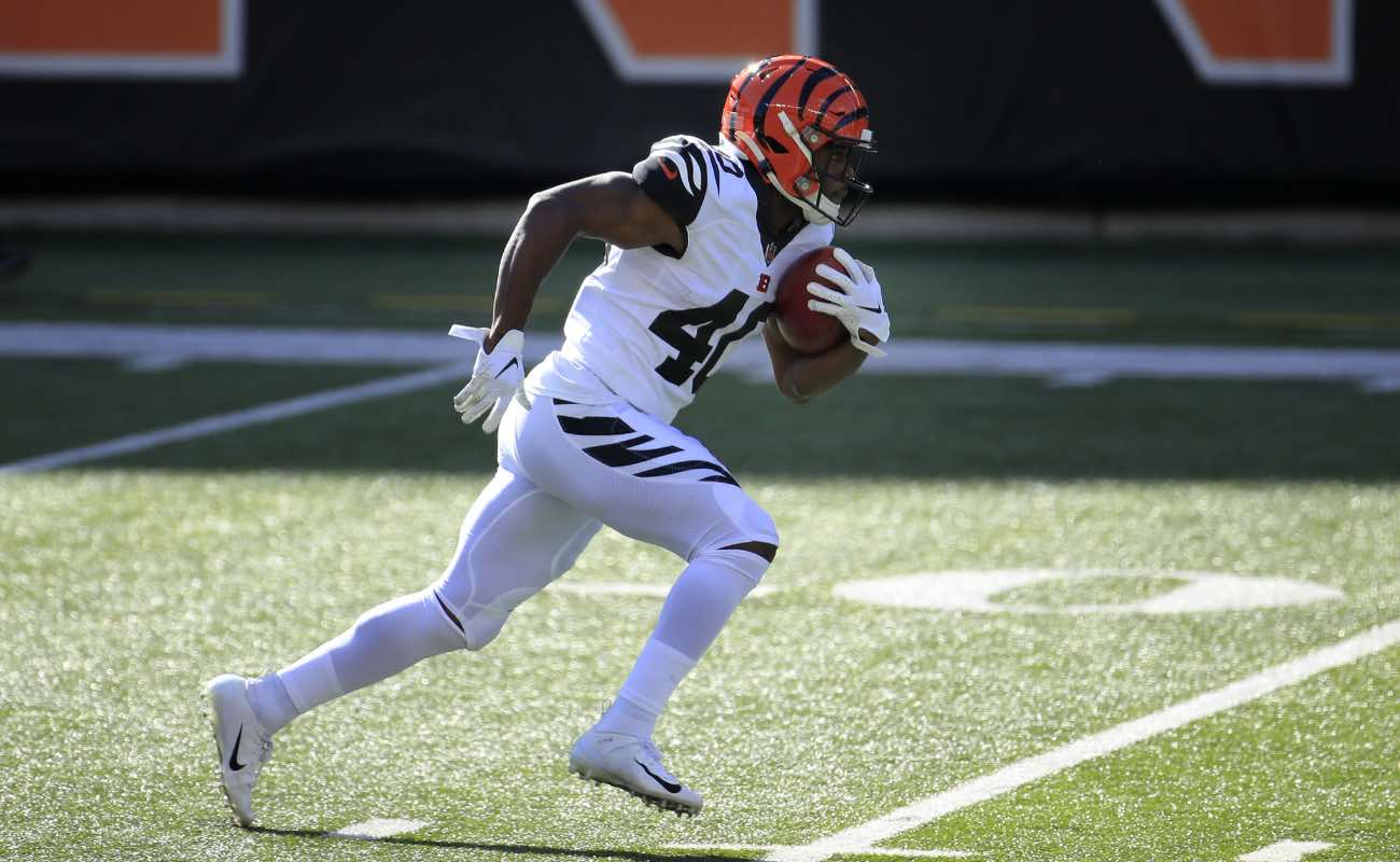 Brandon Wilson #40 of the Cincinnati Bengals at Paul Brown Stadium November 2020. (Photo by Andy Lyons/Getty Images.