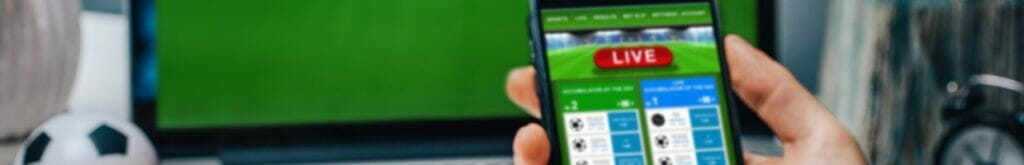 A virtual sports fan places his bets on a virtual sports game.