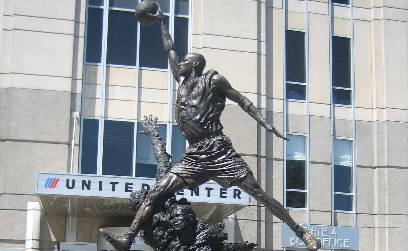 Michael Jordan statue in Illinois Chicago